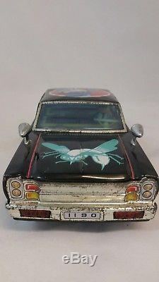 Scarce Tin Plate Asc Japan Secret Agent Green Hornet Car C1960s