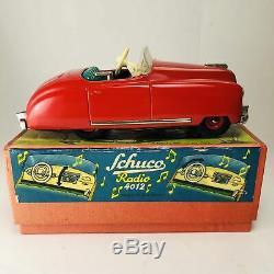 Schuco Radio 4012 Wind-Up Car w Box US Zone Germany MLC36