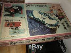 Sears by Marx Vintage Original 1/24 Professional Slot Car Race Set Box & 2 Cars