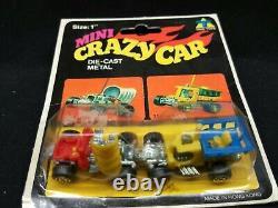 Set of two Vintage 70's tin toys before Mattel Hot Wheels Zowees Mini