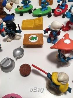Smurf Vintage Lot Figures Peyo Accessories Schleich Wind Up Cars Rare Toys