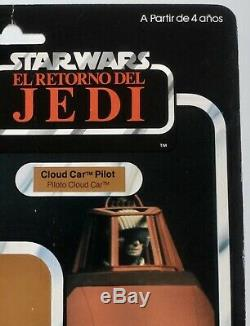 Star Wars vintage PBP Spanish Cloud Car Pilot Cardback Rare 100% Original POCH