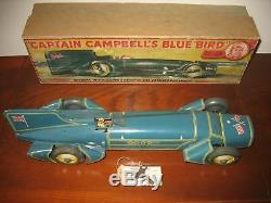 Super Gunthermann Blue Bird Boxed Tinplate LAND SPEED RECORD CAR Germany Tin Toy