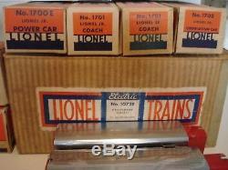 Superb Lionel prewar Set #1072E JR. STREAMLINER Red/Chrome 4-Car Cat 1937 marx