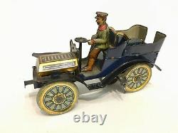 Superb condition all original early tinplate veteran car Germany c 1904
