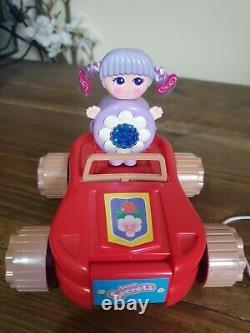 Sweet Secrets purple flower Flashee Brush Car Set Galoob 1984 1st Release