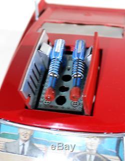 T. N Nomura Sonic Car Roof-o Matic Charger Battery Op. Vtg Tin Japan, Yonezawa