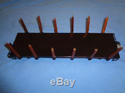 T Reproductions Buddy L Outdoor Train Flat Car with Stakes