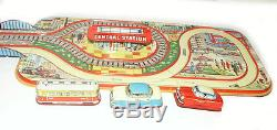 TECHNOFIX 301 COUNTRY TOUR METAL WIND UP PLAY SET With 3 CARS AND ORIGINAL BOX