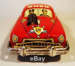 Tin Friction 1950's G Man Gman Car W Original Box Yoshiya Cragstan Japan