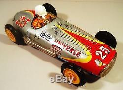 Tin Friction 1950's Universe Racer Mercedes Benz W-196 Race Car Yonezawa Japan