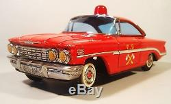 Tin Friction 1960 Oldsmobile Olds Fire Chief Car Nomura Tn Japan