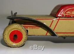 TINPLATE PENNY TOY SALOON CAR RARE GERMANY ANTIQUE / VINTAGE CLOCKWORK 1930's