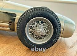 TIPPCO, VERY RARE MERCEDES W196 RACING CAR, FRICTION, TIN TOY, GERMANY, 37cm