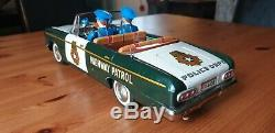 TN Nomura'Police Command Car' tin litho, Datsun Cedric