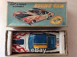 TPS Tokyo Playthings tinplate Mustang Stunt Car Boxed