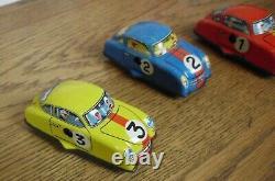 Technofix 302 Grand Prix Tin Wind Up Porsche Race Set withBOX CARS WORKS 1950'S