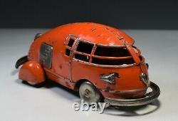 Tin Toy Concept Car Pre War Japan Arrow Plane Futuristic Streamlined 1930 Rare