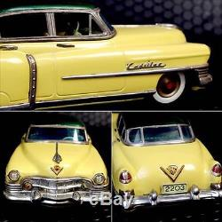 Tin Toy Marusan Kosuge Cadillac Car made in Japan 1950's Vintage re-paint 443