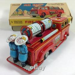 Tin toy Fire Engine truck car FD Alps made in Japan rare with box vintage 316
