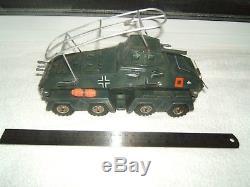 Tippco Tipp co Armoured car Panzerspahwagen VGC 1940 clockwork toy