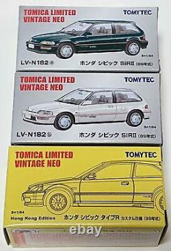 Tomica Limited Vintage Civic 3 cars 1/64 Toys/Hobbies/Toys Toy Minicar