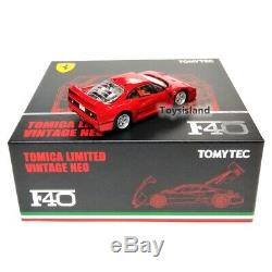 Tomica Limited Vintage NEO TLV Ferrari F40 1/64 NEW DIECAST CAR TOMYTEC TOMY LV