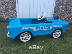 Triang Panda Police Patrol Pedal Car Vintage