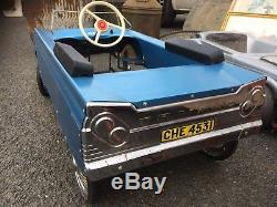 Triang chevrolet Vintage Pedal Car See Pictures In Blue And Chrome