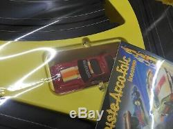 Tyco TRANSFORMERS Electric Slot Track Nite-Glow with 2 Cars Mustang MIB Vintage