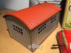 Us Zone Germany Tin Wind Up Toy Race Car Auto Union Set Nbn Original Box Works