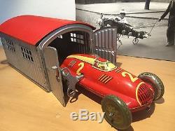 Us Zone Germany Tin Wind Up Toy Race Car Auto Union Set Nbn Original Works
