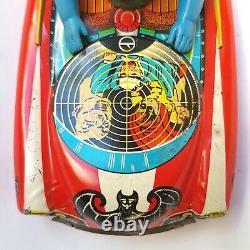 Ultra Rare 1966's BATMOBILE BATMAN CAR/TANK Litho Tin Friction Toy Yanoman Japan