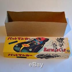 Ultra rare BATMAN BATMOBILE TIN CAR by Masudaya Japan REPRODUCTION BOX ONLY