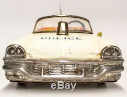 Ultra-rare Joustra French 1955 Chrysler New Yorker Tin Friction Police Car