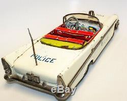 Ultra-rare Joustra French 1955 Chrysler New Yorker Tin Friction Police Car