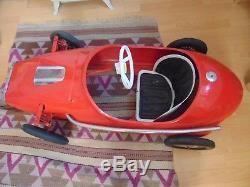 Unrestored 1960s Triang Grand Prix Vanwall Pedal Car