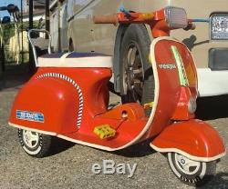 Used Vespa scooter pedal car antique / retro tin vehicle From Japan
