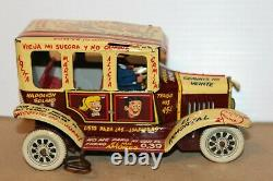 VERY NICE 1950s MARX PlastiMarx MEXICO TIN WIND UP JALOPY ARCHIE JUGHEAD CAR #1