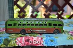 VERY RARE TOY 1940s! VTG Russian Soviet USSR car bus Wind-Up old metal