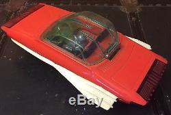 VERY RARE Yonezawa Tin Sea Hawk Future Car, 1960s, With Space Figure, Japan