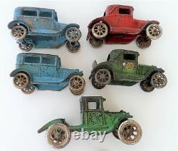 VINTAGE 1930 ARCADE CAR HAULER / CARRIER with 4 FORDS 24 1/2