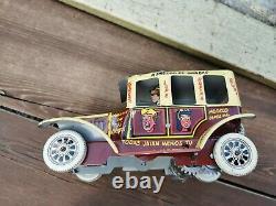 VINTAGE 1950's MARX PLASTIMARX MEXICO TIN LITHO WIND UP JALOPY ARCHIE CAR