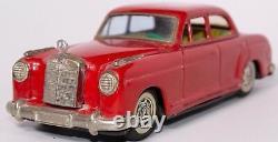 VINTAGE 1950s MERCEDES BENZ 219 4-DOOR SEDAN JAPANESE TIN FRICTION CAR