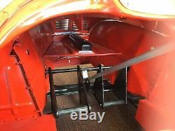 VINTAGE 1950s RESTORED RED AUSTIN J40 PEDAL CAR PROJECT STEERING WHEEL DAMAGED