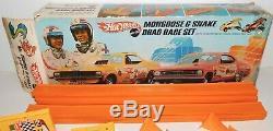 VINTAGE 1969 MATTEL HOT WHEELS MONGOOSE & SNAKE DRAG RACE SET (6438) with 2 CARS