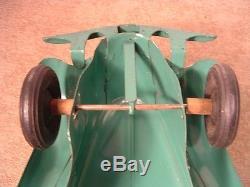 Vintage Antique 1930's Kingsbury Toys Green Lincoln Zephyr Wind-up Car