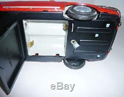 VINTAGE BATTERY OPERATED BANDAI PORSCHE TIN CAR JAPAN WithBOX BEAUTIFUL