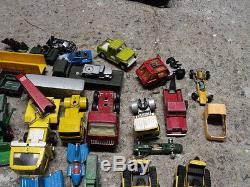 VINTAGE CORGI DINKY MATCHBOX LESNEY etc JOB LOT OF CLASSIC TOYS & CARS