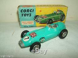 VINTAGE CORGI TOYS MODEL No. 152S BRM FORMULA 1 GRAND PRIX RACING CAR VN MIB